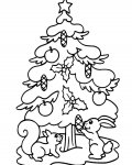 Christmas tree Online Coloring