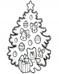 Christmas tree Printable coloring pages online