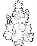 Christmas tree Online Coloring Pages for boys