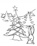 Christmas tree Coloring Pages for boys