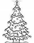 Christmas tree Free coloring pages for boys