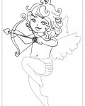 Cupids Printable Tracing Coloring Page