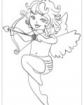 Cupids Free Coloring Pages
