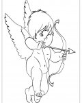 Cupids Coloring page template printing