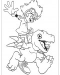 Digimon Coloring Page for your Little Ones