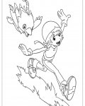 Digimon Printable coloring pages for girls