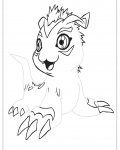 Digimon Free Tracing Coloring Page