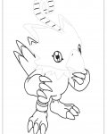Digimon Printable Tracing Coloring Page