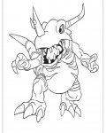 Digimon Online Coloring Pages for boys