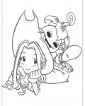 Digimon Coloring page template printing