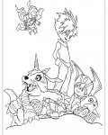 Digimon Coloring Pages for boys