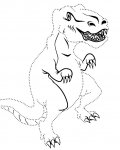 Dinosaurs Printable Tracing Coloring Page