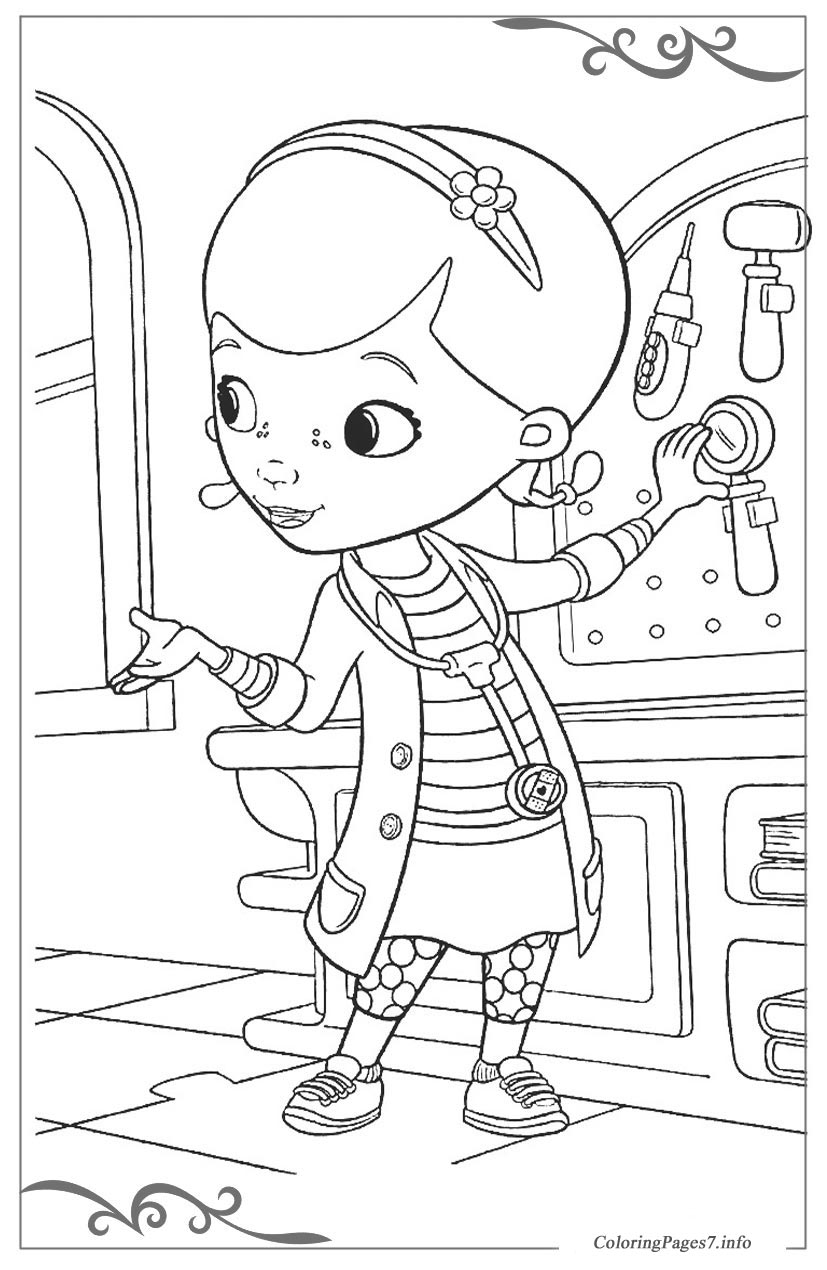 Doc McStuffins Free coloring pages for girls