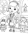 Doc McStuffins Online Coloring Pages for boys