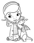 Doc McStuffins Coloring Pages for Kids