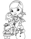 Doc McStuffins Coloring page template printing