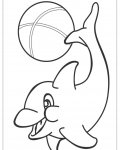 Dolphins Online Coloring Pages for boys