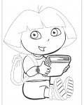Dora the Explorer Free Tracing Coloring Page