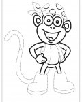 Dora the Explorer Printable Tracing Coloring Page