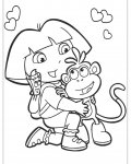 Dora the Explorer Free printable coloring pages