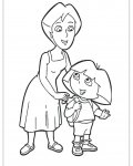 Dora the Explorer Coloring page template printing