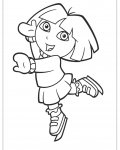 Dora the Explorer Free coloring pages for boys