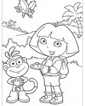 Dora the Explorer Download and print coloring pages for kids