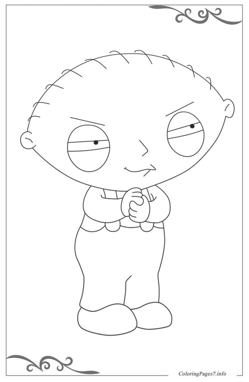 Family Guy Online Coloring Pages For Girls