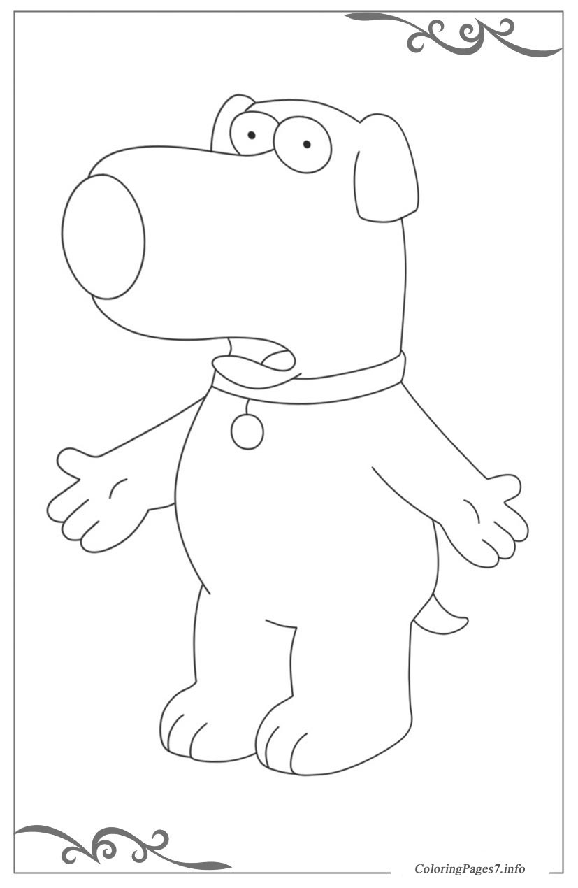 Printable Family Guy Coloring Pages For Kids | 1270x827