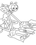Ferdy the Ant Coloring Pages for Kids