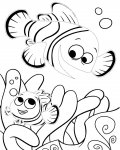 Finding Nemo Printable Tracing Coloring Page