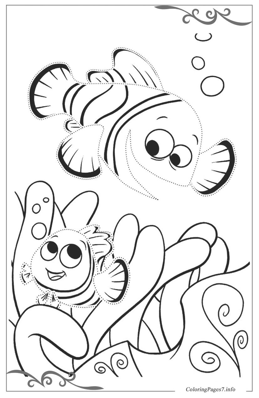 40 Finding Nemo Coloring Pages - Free Printables | Finding nemo coloring  pages, Nemo coloring pages, Cartoon coloring pages | 1270x827