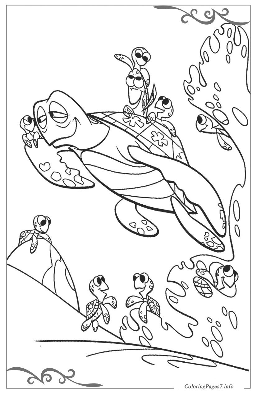 Finding Nemo Free Printable Coloring Pages For Children