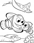 Finding Nemo Coloring page template printing