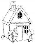 Gingerbread houses Printable Coloring Pages