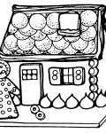 Gingerbread houses Coloring Page for your Little Ones