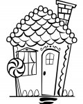Gingerbread houses Printable coloring pages for girls