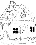 Gingerbread houses Free printable coloring pages
