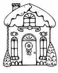 Gingerbread houses Free Coloring Pages