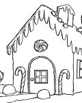 Gingerbread houses Coloring Pages for Kids