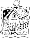 Gingerbread houses Free coloring pages for boys