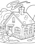 Gingerbread houses Download coloring pages