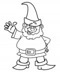 Gnomes Free Online Coloring Pages
