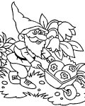 Gnomes Free printable coloring pages
