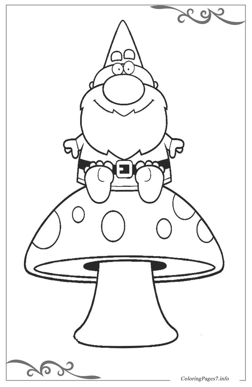 Gnomes Download And Print Free Coloring Pages For Kids