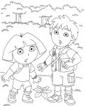 Go, Diego, Go! Printable Coloring Pages
