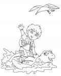 Go, Diego, Go! Printable coloring pages for girls