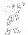 Go, Diego, Go! Tracing Coloring Page for kids