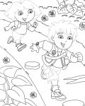 Go, Diego, Go! Printable Tracing Coloring Page