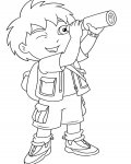 Go, Diego, Go! Coloring page template printing